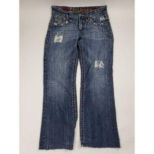 Rock Revival Scott Boot Cut Distressed Jeans